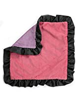 One Grace Place Sassy Shaylee Binky Blanket, Black/Pink/Purple