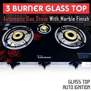 Branded 3 Burner Glass Top Automatic Cooktop with Marble Finish