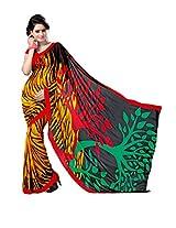 ANSS Elegant Faux Georgette Saree with Floral Print - Multi color