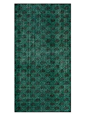 nuLOOM One-of-a-Kind Vintage Overdyed Hand-Knotted Rug, Emerald, 4' 7