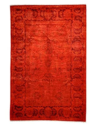 Darya Rugs Transitional Oriental Rug, Bright Orange, 8' 10