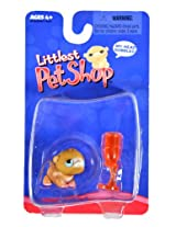 Hasbro Year 2004 Littlest Pet Shop Single Pack Series Bobble Head Pet Figure - Brown GERBIL HAMSTER with Water Bottle Feeder (#50462)