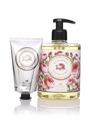 Panier des Sens Rejuvenating Rose Liquid Soap and Hand Cream, Set of 2