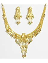 DollsofIndia Gold Plated Bridal Necklace Set - Metal - Golden