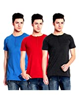 Lemon & Vodka Short Sleeve Solid Men's Tshirt Combo Pack of Three-CMB-5-S
