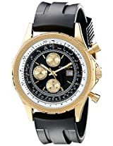 Akribos XXIV Men's AK532YGB Conqueror Swiss Multi-Function Rubber Strap Watch