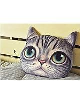 Besttime 32cm Cat 3 D Pillow Soft Plush Doll Toy (E)