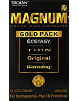 Trojan Magnum Gold Collection, Large Size,10-count