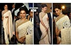 Deepika Padukone Off White Saree At CNN IBN Awards
