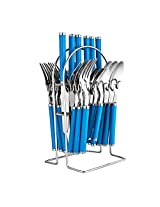 Cook Nook D Cutlrery Set,Stainless Steel, Pack of 25 Piece,Blue