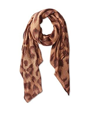 Theodora & Callum Women's Abstract Leopard Scarf, Taupe