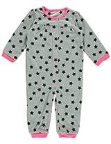 Carter's Baby Girls' Microfleece Jumpsuit - Grey Star - 12 Months