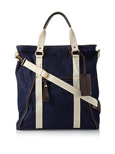 Dalexanders New York Men's The Classic Bag, Blue Denim/Cream