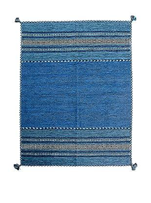 RugSense Alfombra Kilim Tribal Azul 230 x 160 cm