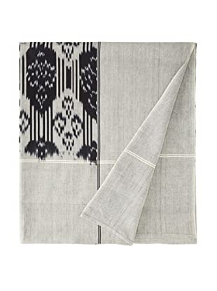 Nomadic Thread Society Double Ikat Bed Cover (Black/White)