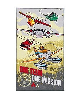 Disney Teppich Disney A.L. Planes- One Team  mehrfarbig 80 x 140 cm