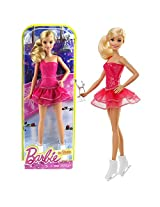 Mattel Year 2015 Barbie Career Series 12 Inch Doll Barbie As Ice Skater (Dhb15) With Trophy