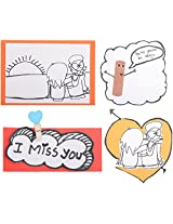 Artista Love Collection Greeting Card - Pack of 4