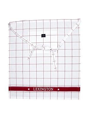 Lexington Company Delantal Cuadro Grande (Blanco / Rojo)