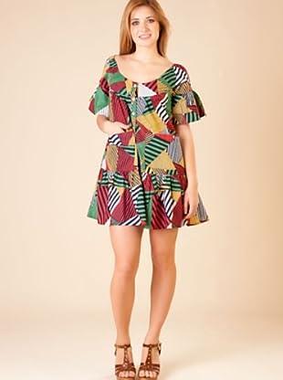 By Basi Vestido Rayas multicolor 38