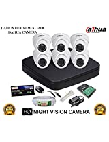 DAHUA HDCVI 8CH DH-HCVR4108C-S2 DVR + DAHUA HDCVI DH-HAC-HDW1000RP DOME CAMERA 6Pcs + 1 TB WD HDD + 3+1 COPPER CABLE + POWER SUPPLY (FULL COMBO)