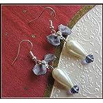 [E17B_001] Purple Bow Earrings 01