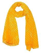 Famacart Women's Ethnicwear Chiffon Plain Yellow Dupatta