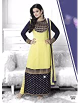 Amisha Patel in New Arrival purple And Yellow Salwar suit