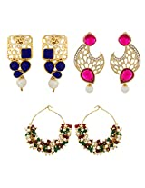 Designer Combo Of Party Wear Earrings for Women Combo-2242