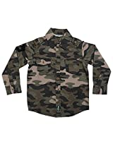 BIO KID Baby Boys' (1-2 Y) Cotton Shirt (Green Camo, 92 CM )