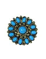 Sunflower Ring-Blue
