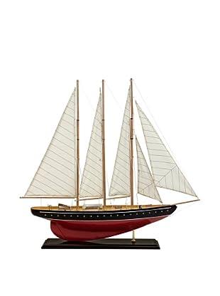 Voyager Large Sailboat Model, Red