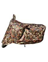 Jungle Print Dust Proof Water Resistant Double Mirror Pocket Bike Body Cover for Pulsar RS 200