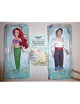 Disney 2 Doll Set Areil And Prince Eric Plus Book