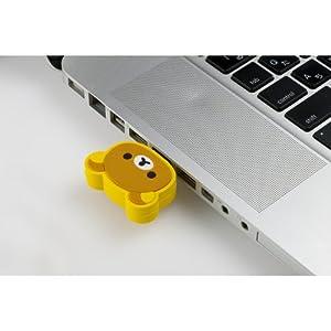 PLANEX 11n ハイパワー150Mbps キャラクターカバーつき無線LAN USBアダプタ(リラックマ) GW-USPETIT-RK