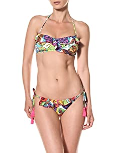 Nanette Lepore Swim Women's Papillon Vamp Tie Side Bikini Bottom (Butterfly)