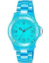 Maxima Fiber Analog Sky Blue Dial Women's Watch - 31800PPLN