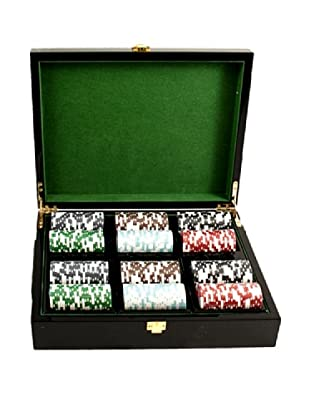 Bey-Berk Inlaid Lacquer Wood Box Poker Set