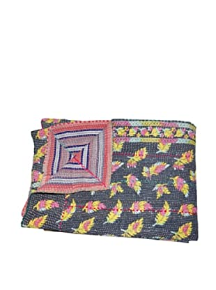 Large Vintage Parul Kantha Throw, Multi, 60