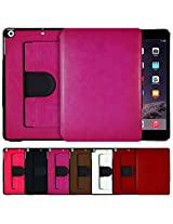 AirPlus AirCase 360° Portfolio Premium Leather Case for iPad Mini Retina -[HOT PINK]