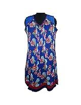 Reednpick Ladies Kurti Printed Floral Blue
