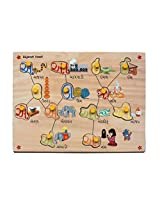 Skillofun Gujarati Vowel  Shape Tray, Multi Color