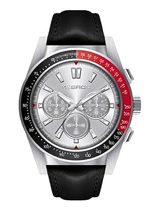 K&BROS 9902-1 / Reloj de Caballero  con correa de piel Negro