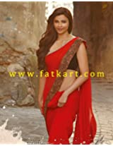 Bollywood Replica Daisy Shah Georgette Saree In Red Colour Nc441