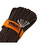 TITAN SurvivorCord, Bronze, 100 Feet - Patent-pending design integrates Fishing Line, Waxed Jute, and Copper Wire into our #1-Rated Military 550 Paracord. Includes 2 FREE Paracord Project eBooks.
