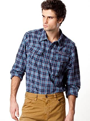 Timberland Camisa Cuadros Automáticos (Azul)