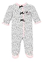 Little Me Baby-Girls Newborn Perfect Poodle Footie, White/Black, Preemie Months