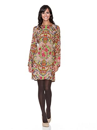 Peace & Love Vestido Estampado (Beige)