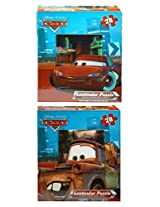 "Disney Pixar Cars Lenticular Puzzle (Set Of 2) 9 X 6"" 28 Pieces"