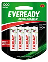 Eveready Recharge AA BP4 700 NIMH Battery (1000 series)